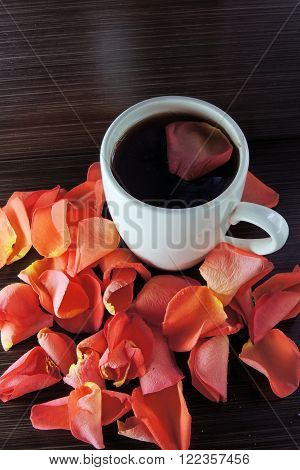 Tea And Rose Petals