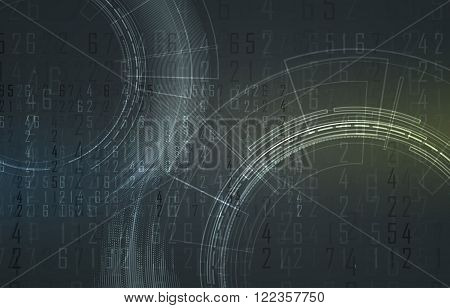 Scientific Future Technology. For Business Presentation. Flyer, Poster Vector Concept