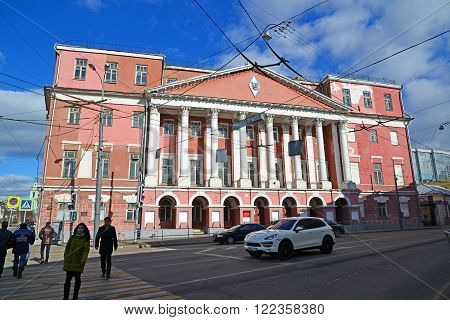 Moscow, Russia - March 14, 2016. Farmstead Count Musin-Pushkin in Razgulyai, now State University of a Civil Engineering