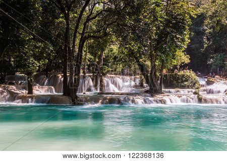 Laos. Luang Prabang. Tad Sae Waterfall. Nature