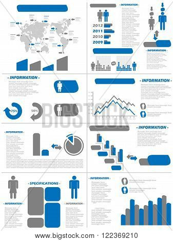 INFOGRAPHIC DEMOGRAPHICS NEW STYLE BLUE for web and other