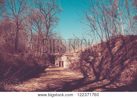 One of the military batteries at Fort Wadsworth on Staten Island New York.