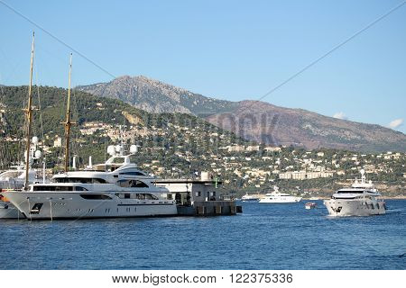 Yachts At Moorage And Float