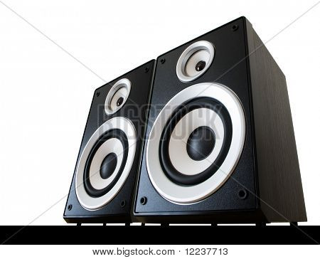 two speakers isolated with clipping path