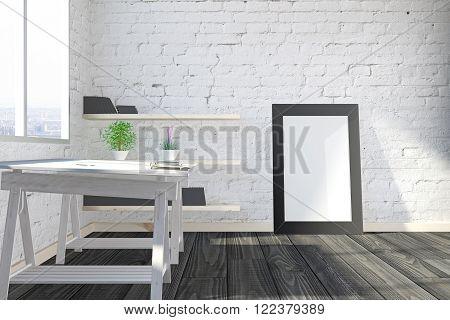 Empty Frame In Studio Side