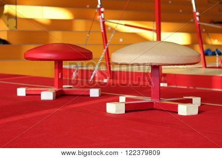 Gymnastic equipment from a gymnastic center in the Faroe Islands