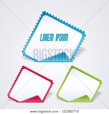 Vector serrated paper for advertising or product business