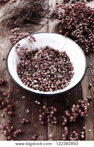 american pepper also known as Brazilian pepper or pink pepper.used in alternative medicine