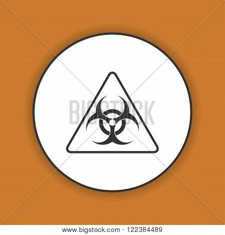 Vector biohazard sign or icon flat Illustration