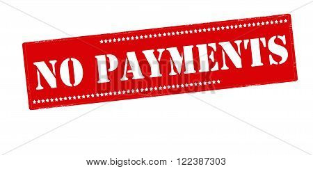 Rubber stamp with text no payment inside vector illustration