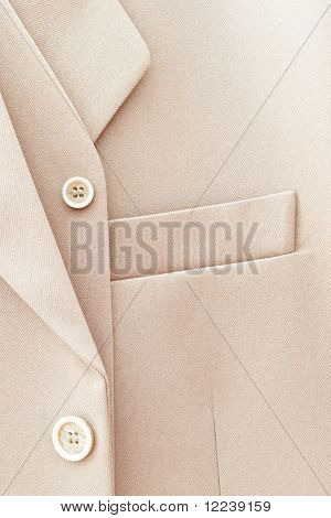 elegant beige man suit detail