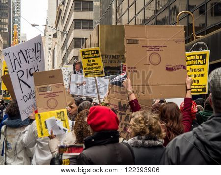 Trump protestors march to Trump Tower in New York City