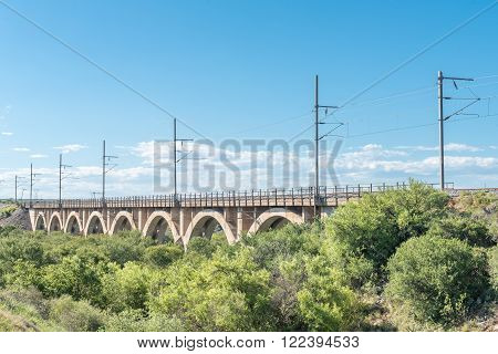Railway bridge over the Little Fish River between Cookhouse and Paterson in the Eastern Cape Province of South Africa