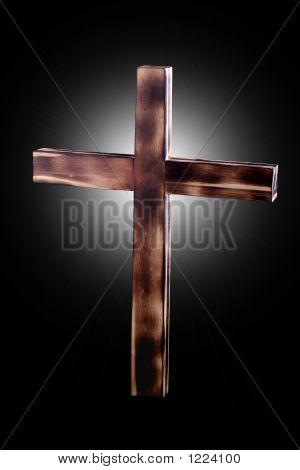 Backlit Wooden Cross