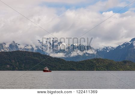 Chilean Fjords Patagonia. Some fjords and channels are important navigable channels providing access to ports like Punta Arenas, Puerto Chacabuco and Puerto Natales.