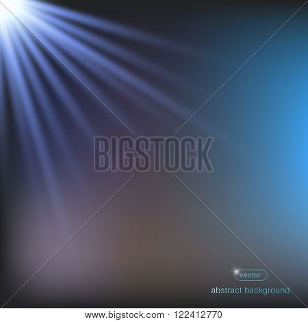 abstract background with rays, Blue gradient vector