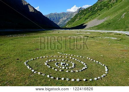 Mysterious Spiral In The Mountains