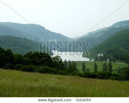 Mountain Landscape In Europe