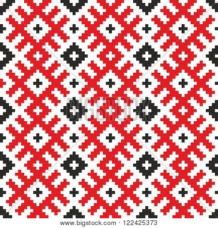 Belorussian ethnic ornament, seamless pattern. Vector illustration.