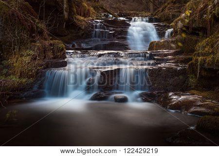 Lower Blaen y Glyn Falls One of a string of Waterfalls near the Blaen y Glyn forest, Brecon Beacons
