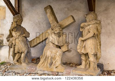Jesus Christ with cross Church Maria Helpful Deggendorf Germany
