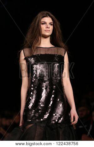 Cigdem Akin Catwalk In Mercedes-benz Fashion Week Istanbul