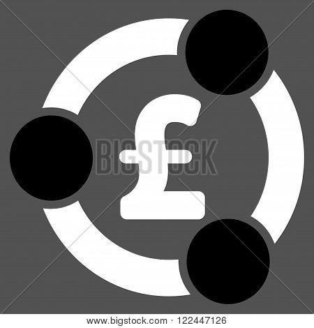 Pound Financial Collaboration vector icon. Pound Financial Collaboration icon symbol. Pound Financial Collaboration icon image. Pound Financial Collaboration icon picture.