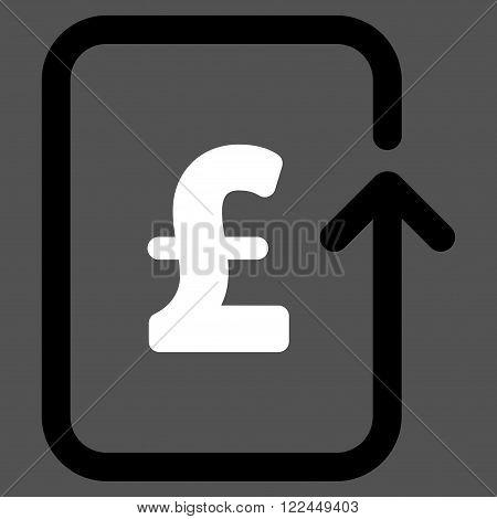 Reverse Pound Transaction vector icon. Reverse Pound Transaction icon symbol. Reverse Pound Transaction icon image. Reverse Pound Transaction icon picture. Reverse Pound Transaction pictogram.