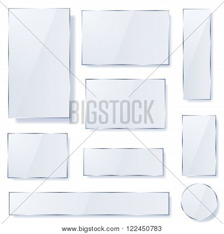 Opaque Glass Plates In Light Blue Colors