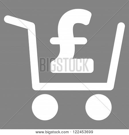 Pound Checkout vector icon. Pound Checkout icon symbol. Pound Checkout icon image. Pound Checkout icon picture. Pound Checkout pictogram. Flat pound checkout icon.