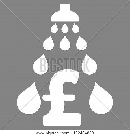 Pound Laundering vector icon. Pound Laundering icon symbol. Pound Laundering icon image. Pound Laundering icon picture. Pound Laundering pictogram. Flat pound laundering icon.