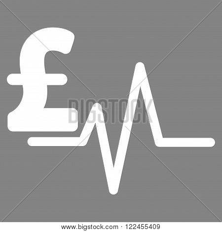 Pound Pulse vector icon. Pound Pulse icon symbol. Pound Pulse icon image. Pound Pulse icon picture. Pound Pulse pictogram. Flat pound pulse icon. Isolated pound pulse icon graphic.