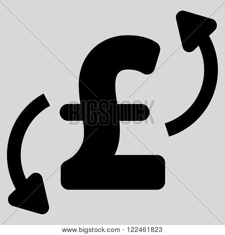 Pound Transfers vector icon. Pound Transfers icon symbol. Pound Transfers icon image. Pound Transfers icon picture. Pound Transfers pictogram. Flat pound transfers icon. poster