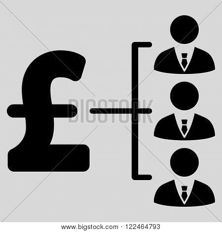 Staff Pound Payment vector icon. Staff Pound Payment icon symbol. Staff Pound Payment icon image. Staff Pound Payment icon picture. Staff Pound Payment pictogram. Flat staff pound payment icon.