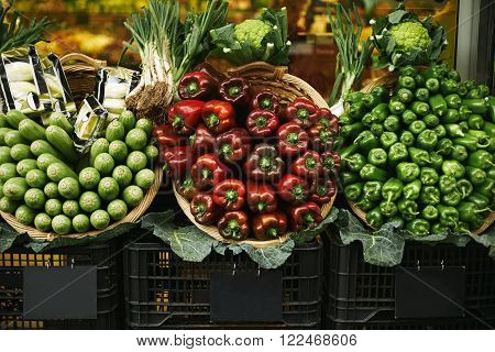Harvest Set Presented On Sale In Basket