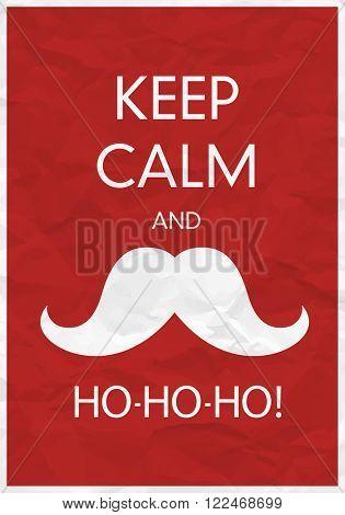Keep Calm And Ho-Ho-Ho!. Raster version.