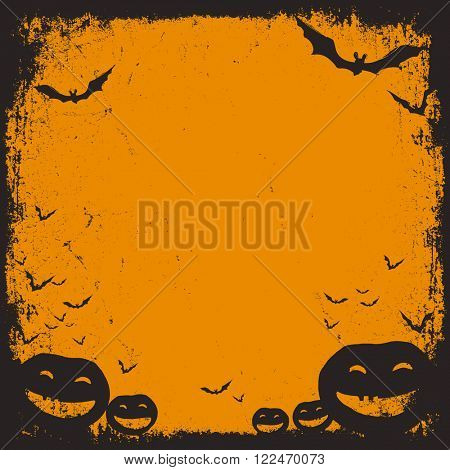 Halloween themed background with space for text. Raster version