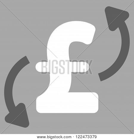Pound Transfers vector icon. Pound Transfers icon symbol. Pound Transfers icon image. Pound Transfers icon picture. Pound Transfers pictogram. Flat pound transfers icon.