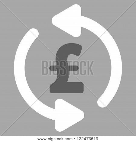 Refresh Pound Price vector icon. Refresh Pound Price icon symbol. Refresh Pound Price icon image. Refresh Pound Price icon picture. Refresh Pound Price pictogram. Flat refresh pound price icon.