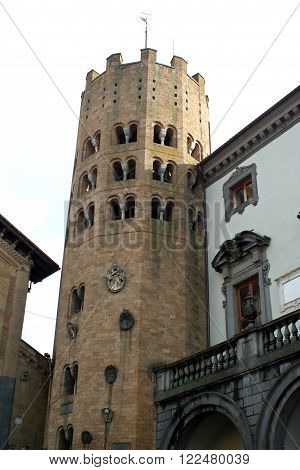 Twelve-sided tower in Orvieto in Umbria in Italy.
