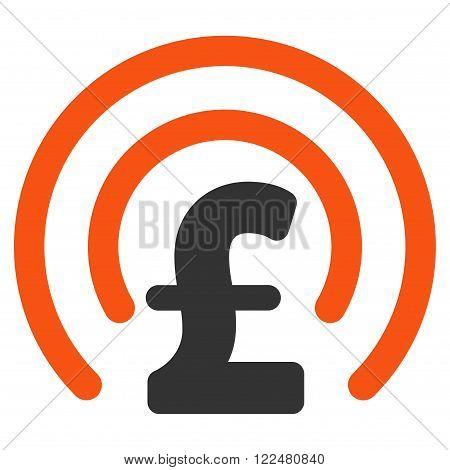 Pound Money Sphere vector icon. Pound Money Sphere icon symbol. Pound Money Sphere icon image. Pound Money Sphere icon picture. Pound Money Sphere pictogram. Flat pound money sphere icon.