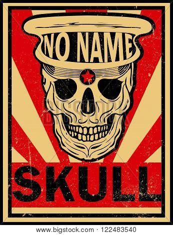 skull illustration / a mark of the danger warning / T-shirt graphics / cool skull illustration