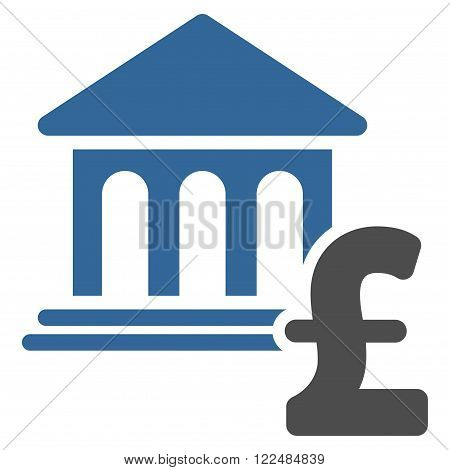 Museum Pound Payment vector icon. Museum Pound Payment icon symbol. Museum Pound Payment icon image. Museum Pound Payment icon picture. Museum Pound Payment pictogram. Flat museum pound payment icon.
