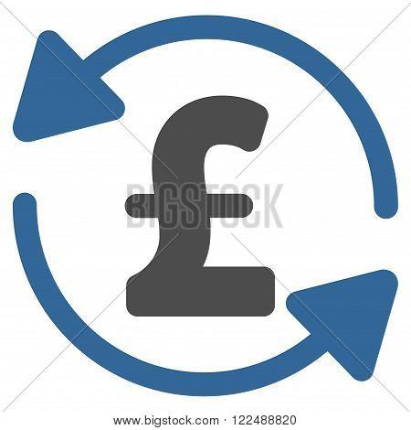 Refresh Pound Balance vector icon. Refresh Pound Balance icon symbol. Refresh Pound Balance icon image. Refresh Pound Balance icon picture. Refresh Pound Balance pictogram.