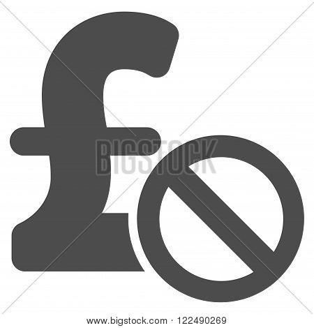 Forbidden Pound Payment vector icon. Forbidden Pound Payment icon symbol. Forbidden Pound Payment icon image. Forbidden Pound Payment icon picture. Forbidden Pound Payment pictogram.