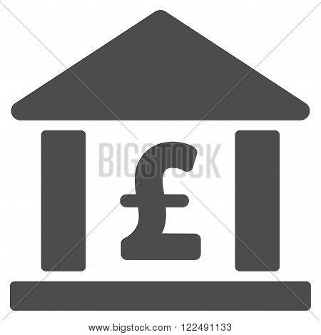 Pound Bank vector icon. Pound Bank icon symbol. Pound Bank icon image. Pound Bank icon picture. Pound Bank pictogram. Flat pound bank icon. Isolated pound bank icon graphic.