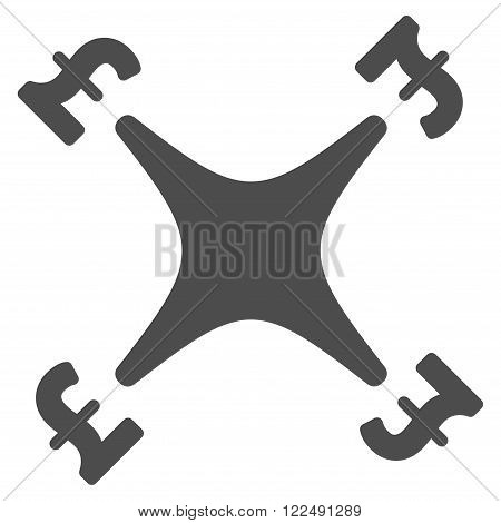 Pound Business Drone vector icon. Pound Business Drone icon symbol. Pound Business Drone icon image. Pound Business Drone icon picture. Pound Business Drone pictogram. Flat pound business drone icon.