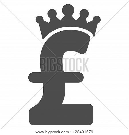 Pound Crown vector icon. Pound Crown icon symbol. Pound Crown icon image. Pound Crown icon picture. Pound Crown pictogram. Flat pound crown icon. Isolated pound crown icon graphic.