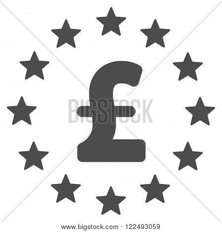 Pound Stars vector icon. Pound Stars icon symbol. Pound Stars icon image. Pound Stars icon picture. Pound Stars pictogram. Flat pound stars icon. Isolated pound stars icon graphic.
