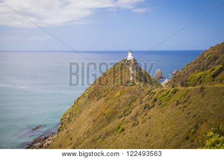 Nugget Point Lighthouse in the Catlins New Zealand